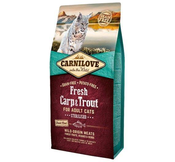 Carnilove Adult Cats Carp & Trout 2kg - Sterilized