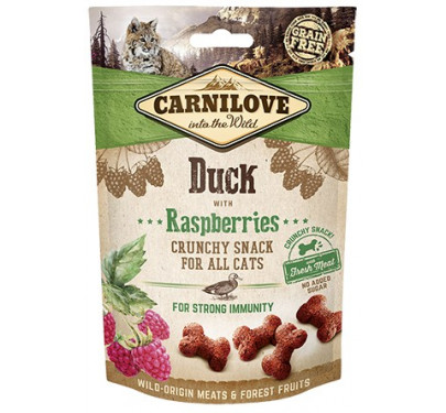 Carnilove Fresh & Crunch Duck with Rasberries 50gr