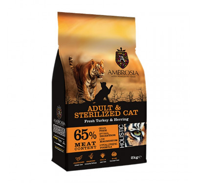 imp AMBROSIA GRAIN FREE CAT ADULT & STERILIZED 2Kg