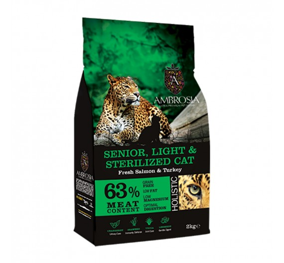 imp AMBROSIA GRAIN FREE CAT LIGHT SENIOR & STERILIZED 2Kg