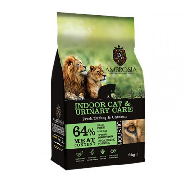 imp AMBROSIA GRAIN FREE CAT INDOOR & URINARY CARE 2Kg
