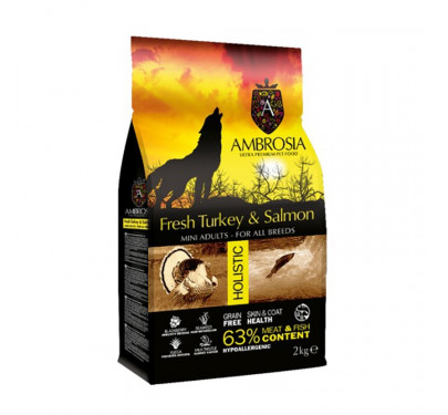 Ambrosia Grain Free Adult Mini Turkey & Salmon 2kg